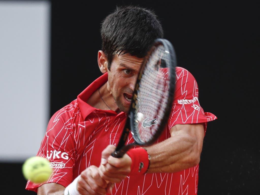 Novak Djokovic hat in Rom nach der Disqualifikation am US Open zurück in die Spur gefunden