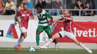 Asumah Abubakar und der SC Kriens hatten einmal mehr Mühe gegen Lausanne-Ouchy. (Boris Bürgisser)