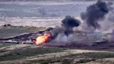 In der Unruheregion Berg-Karabach ist erneut ein Konflikt ausgebrochen. (AP)