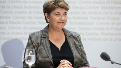 Stand am Ende als Siegerin da: Verteidigungsministerin Viola Amherd. (Symbolbild) (Keystone)