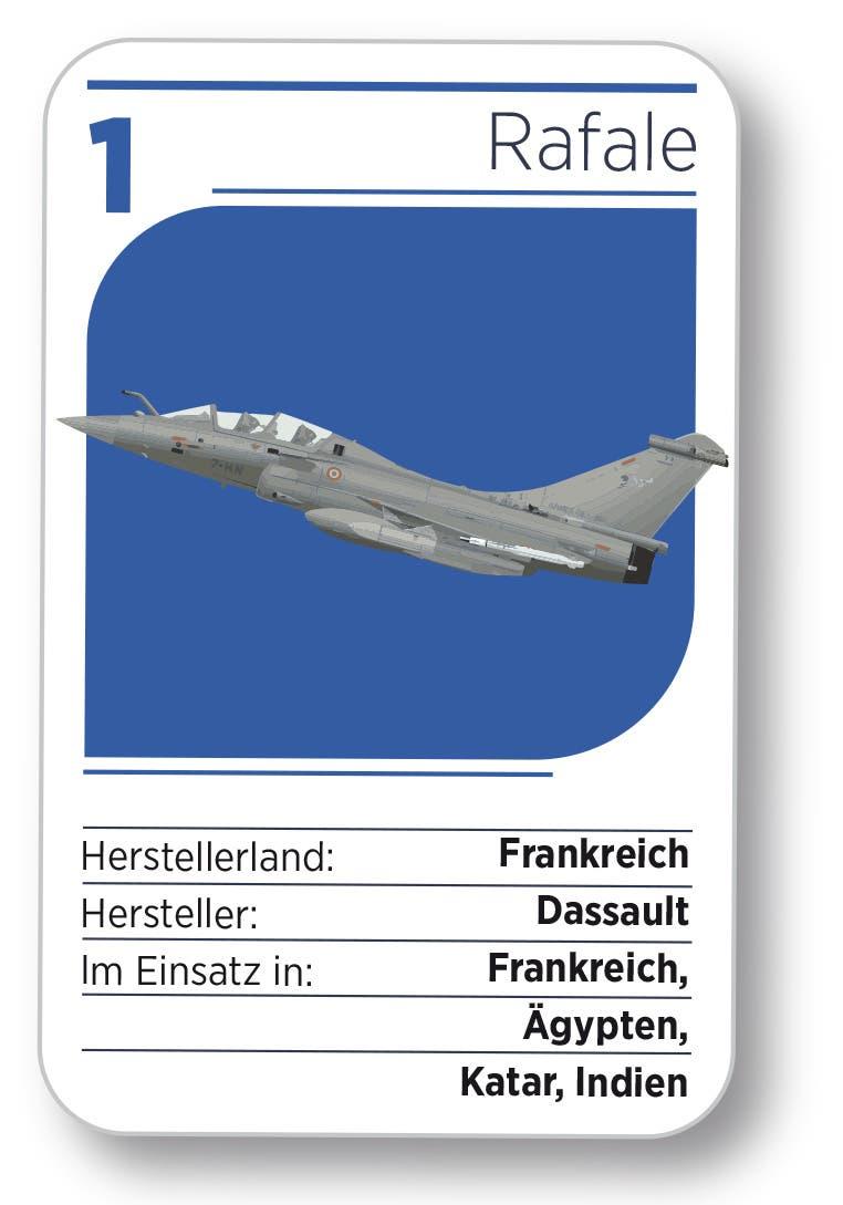 Kampfjet Nr. 1: Der Rafale aus Frankreich.