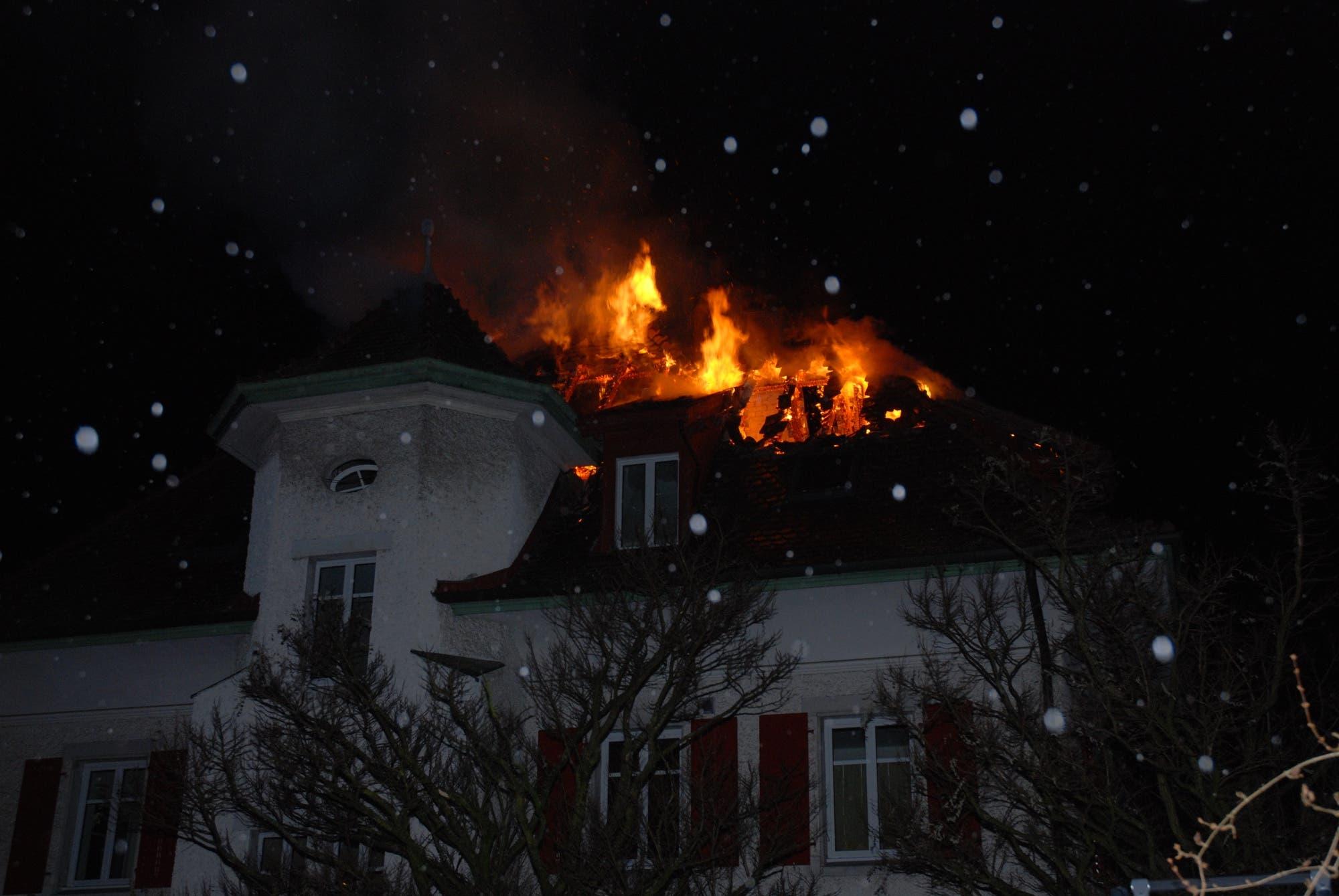 Brand an der Burgunderstrasse in Solothurn