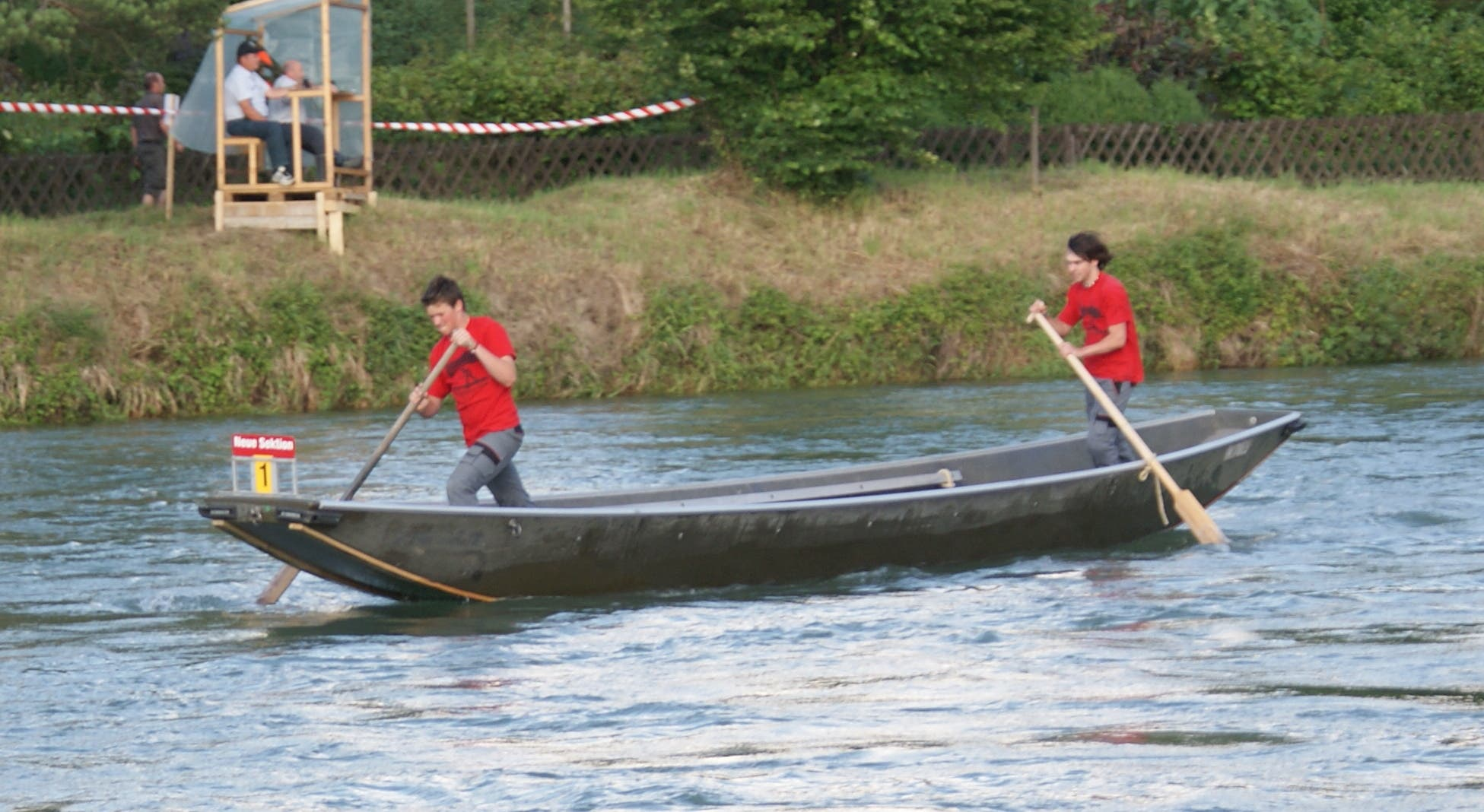 Die Schweizermeisterschaften der Pontoniere in Mellingen