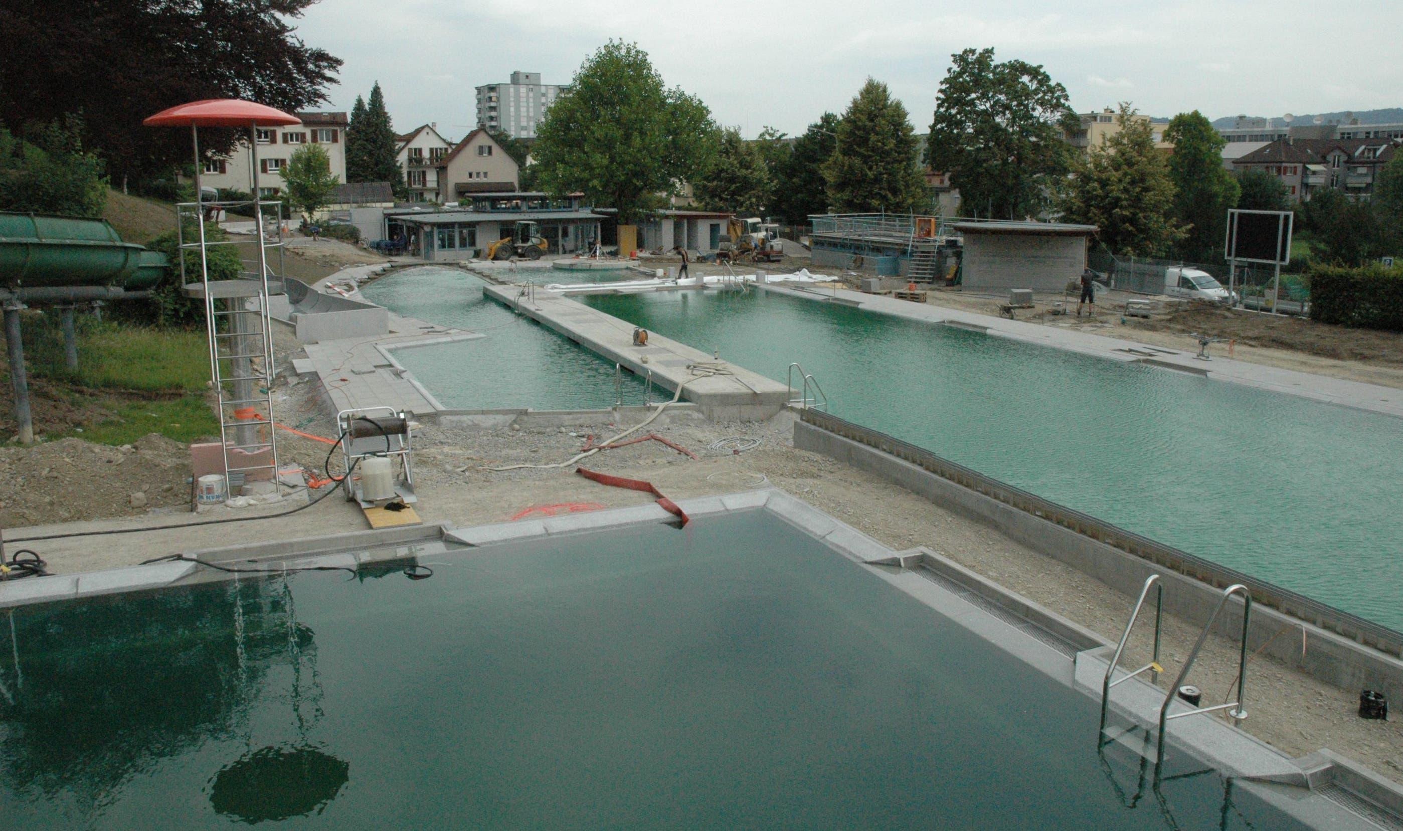 Endspurt für die neue Bio-Badi in Schlieren