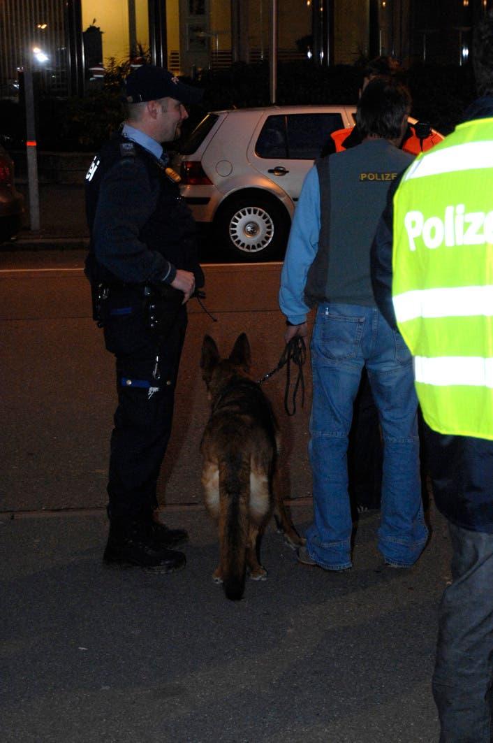 Bombenalarm Sogar Spürhunde wurden eingesetzt.