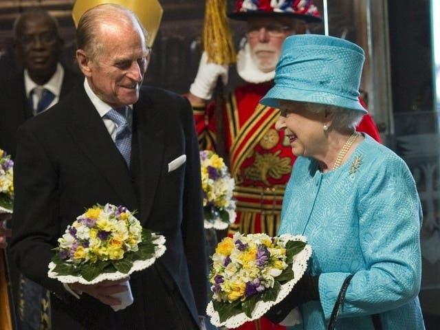 Queen Elizabeth II. mit Ehemann Prinz Philip