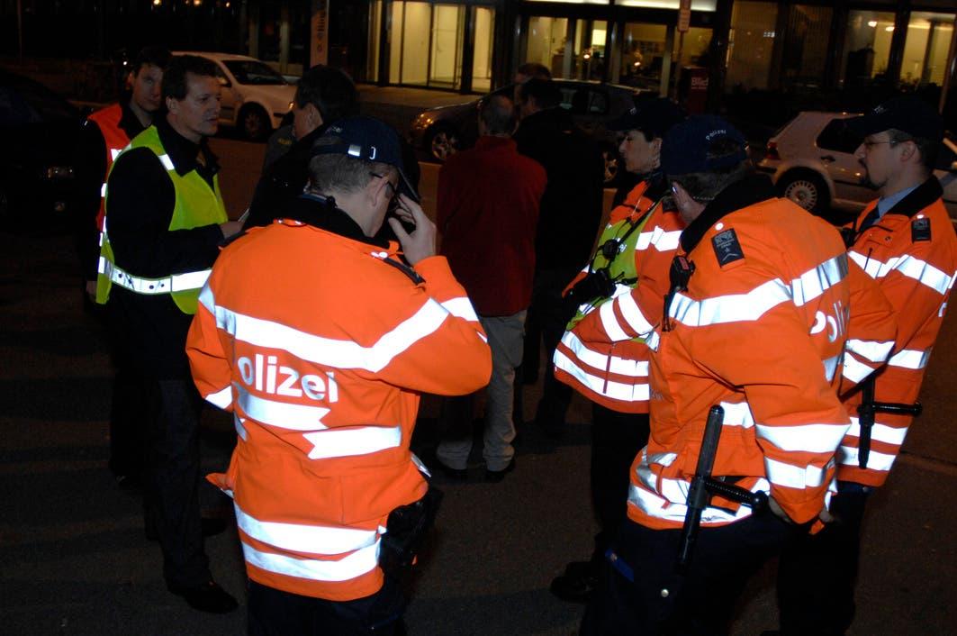 Bombenalarm Grossaufgebot der Polizei