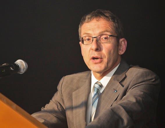 Regierungsrat Urs Hofmann hielt die Eröffnungsrede