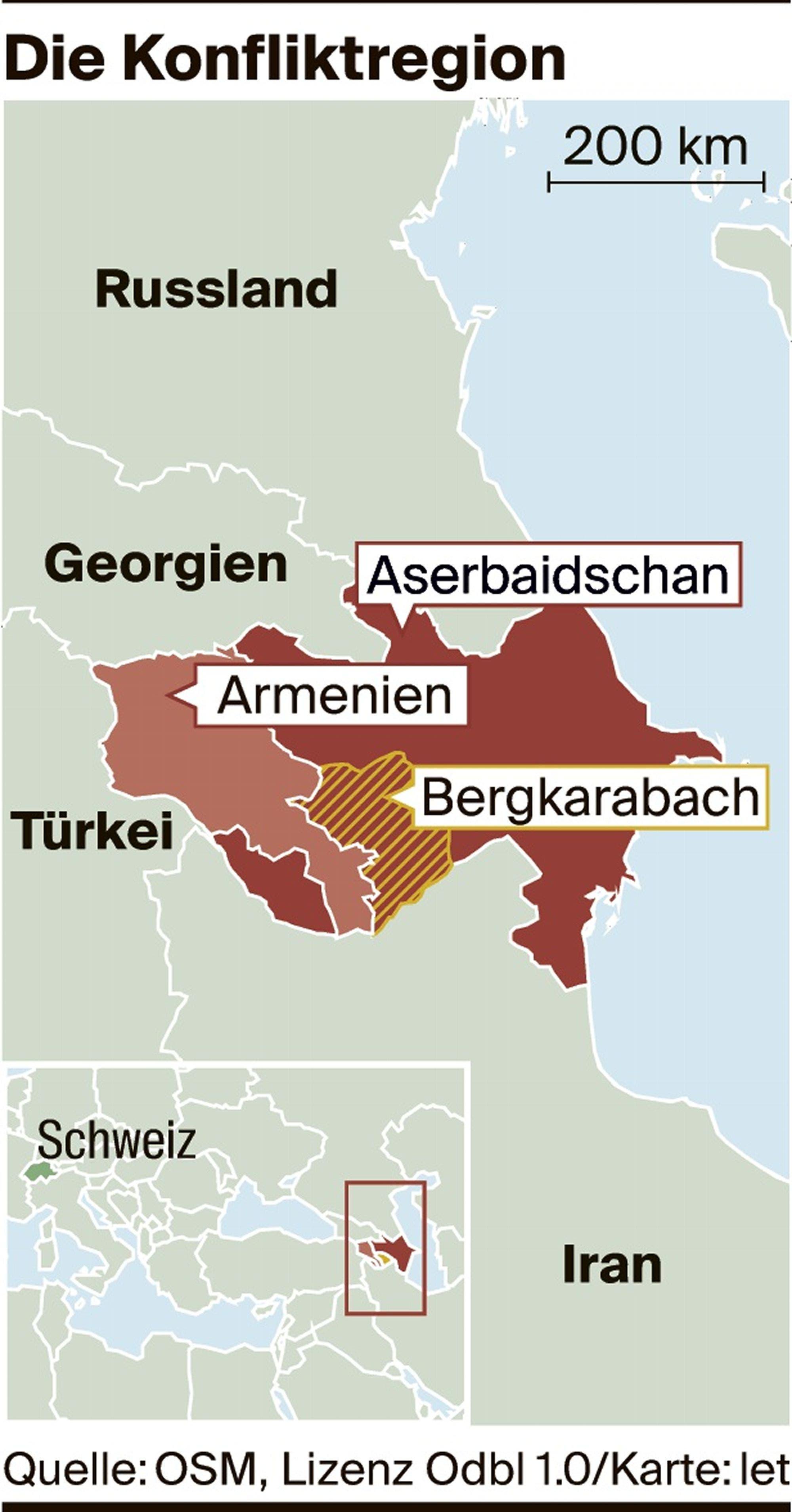 Armenien An Der Schwelle Zum Krieg Was Den Konflikt Mit Aserbaidschan So Gefahrlich Macht Luzerner Zeitung