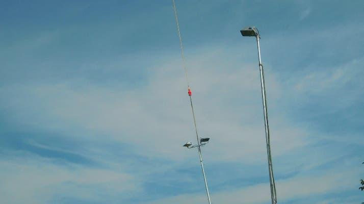 Flugs wurden die Masten gesetzt