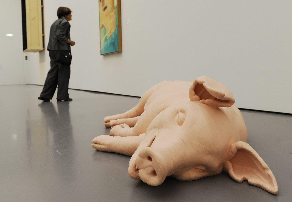 Das Werk «Pig» des Künstlers Paul McCarthy (2003)