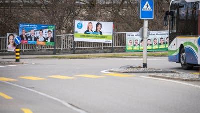 Zumindest gefühlt zieren mehr Wahlplakate als früher Kreuzlingens Strassen. (Bild: Reto Martin (4.März, 2020))