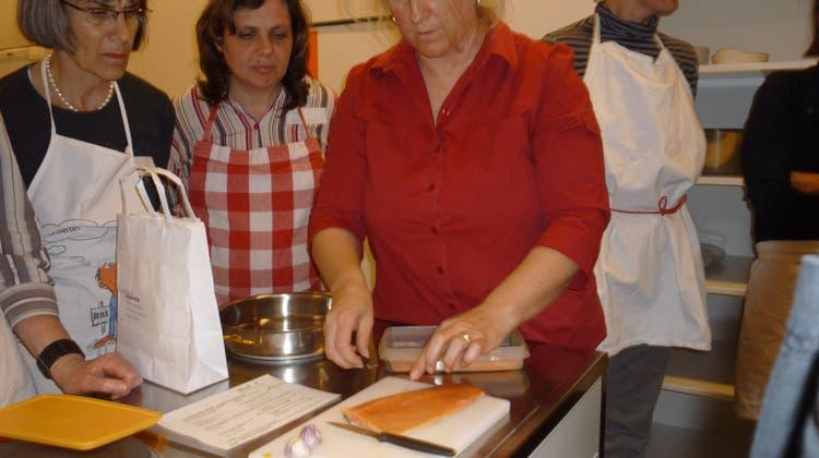 Fischkochkurs mit dem Frauenverein Stetten
