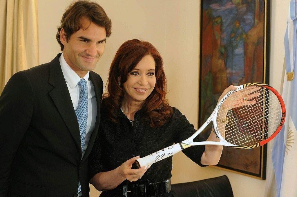 Auch die Staatspräsidenten argentiniesn, Cristina Fernandez de Kirchner, fant für Roger. Ob sie auch Tennis spielt?