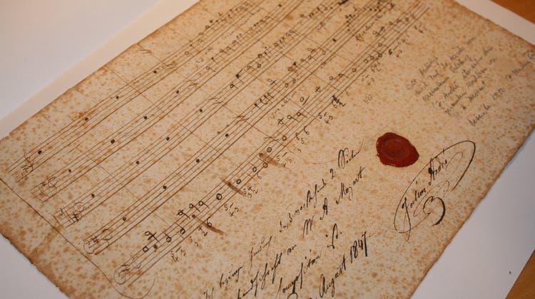 Wie kommt Mozarts Notenhandschrift ins Kloster Mariastein?