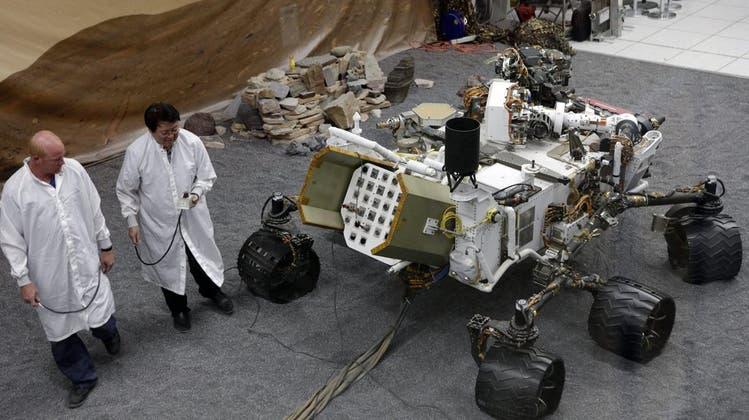 Mars-Rover Curiosity ist auf dem roten Planeten den Aliens auf der Spur