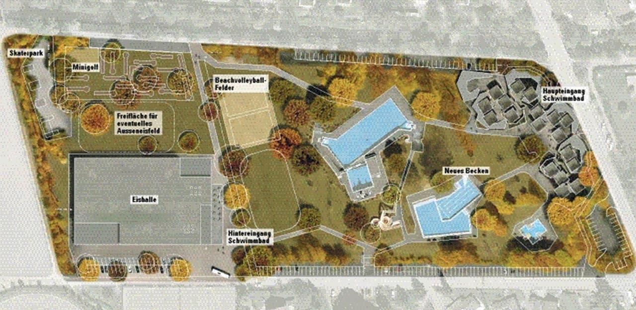 Projekt Schwimmbad und Eishalle in Wohlen