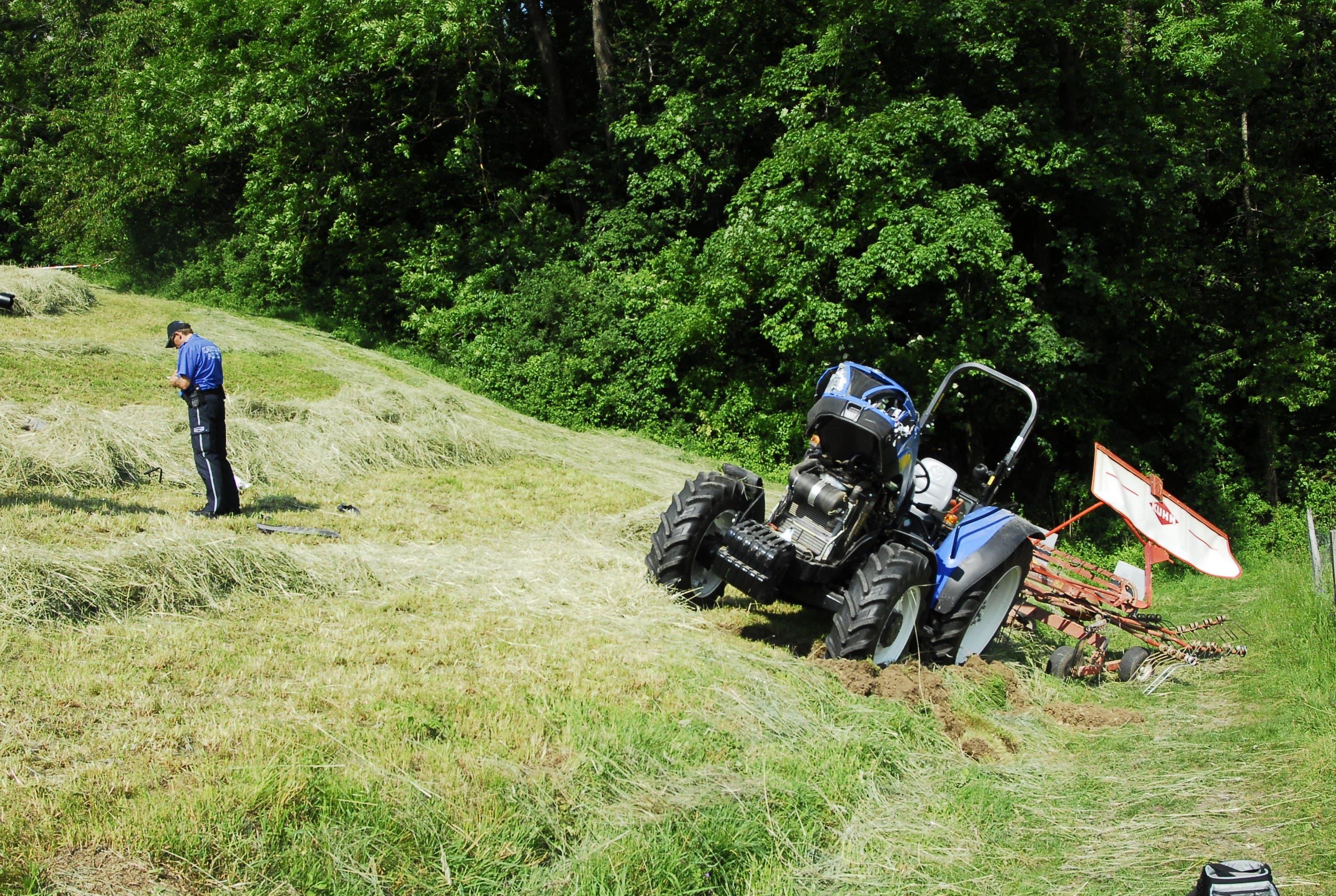 Tödlicher Traktor-Unfall auf der Baldegg
