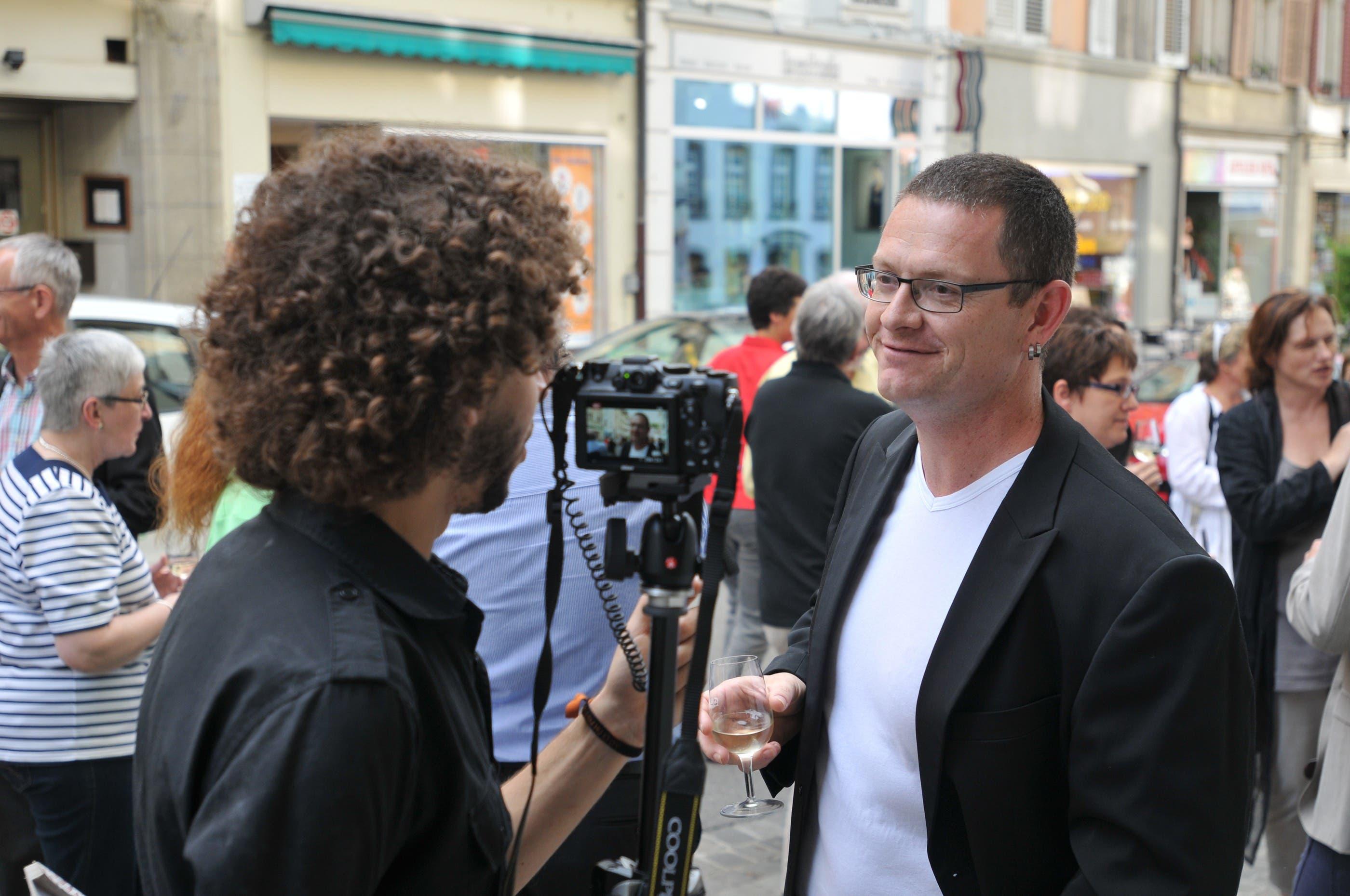 Der Brugger az-Redaktor Marc Reinhard