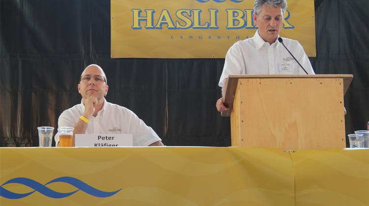 Hasli Bier hat Dividende in Bierform ausgeschenkt