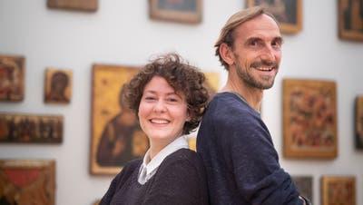 Anna Blumer und Marcus Schäfer spielen im Kunstmuseum St. Gallen zwei grosse Monologe. (Benjamin Manser)