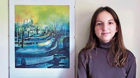 Sie malt, was sie schön findet: Junges Talent aus Walzenhausen stellt ihre Bilder im Kulturlokal Stellwerk in Heerbrugg aus