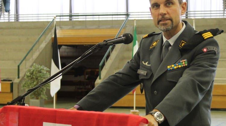 Schulkommandant Droz übergibt nach 943 Diensttagen