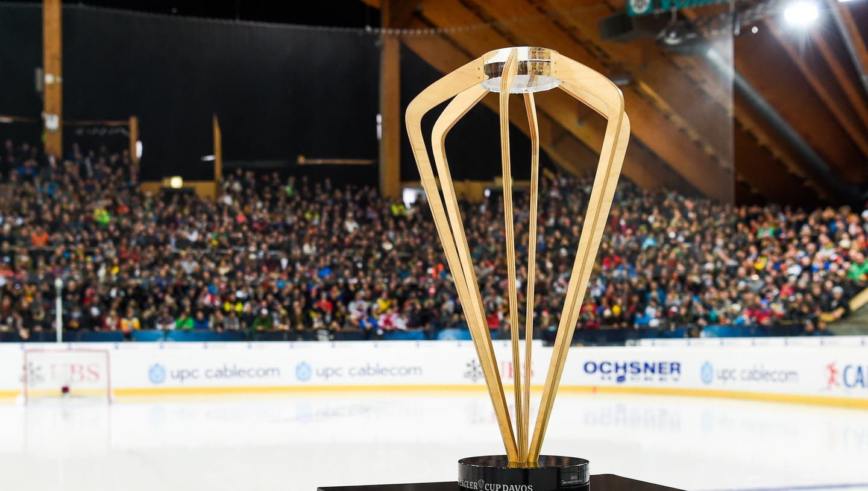 Im kommenden Dezember wird in Davos nicht um die Spengler-Cup-Trophäe gespielt (Bild: Gian Ehrenzeller / Keystone)