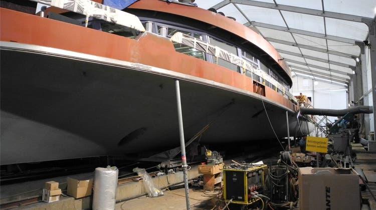 Aareschiff ist im Rohbau fertig: Jungfernfahrt im März