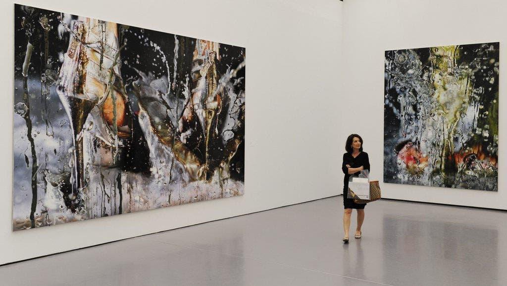 Die Kunstwerke «Meltdown» (links) und «Heavy Metal» der Künstlerin Marilyn Minter