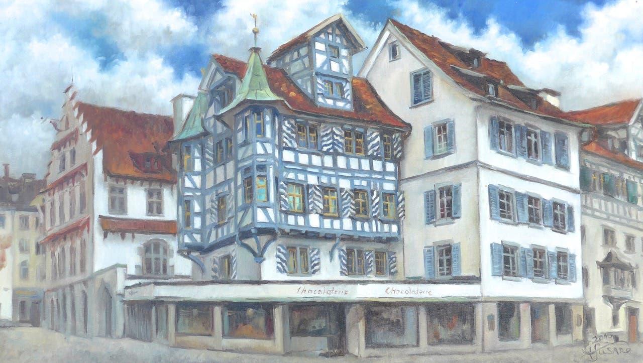 Das weiss-blaue Haus an der Gallusstrasse...