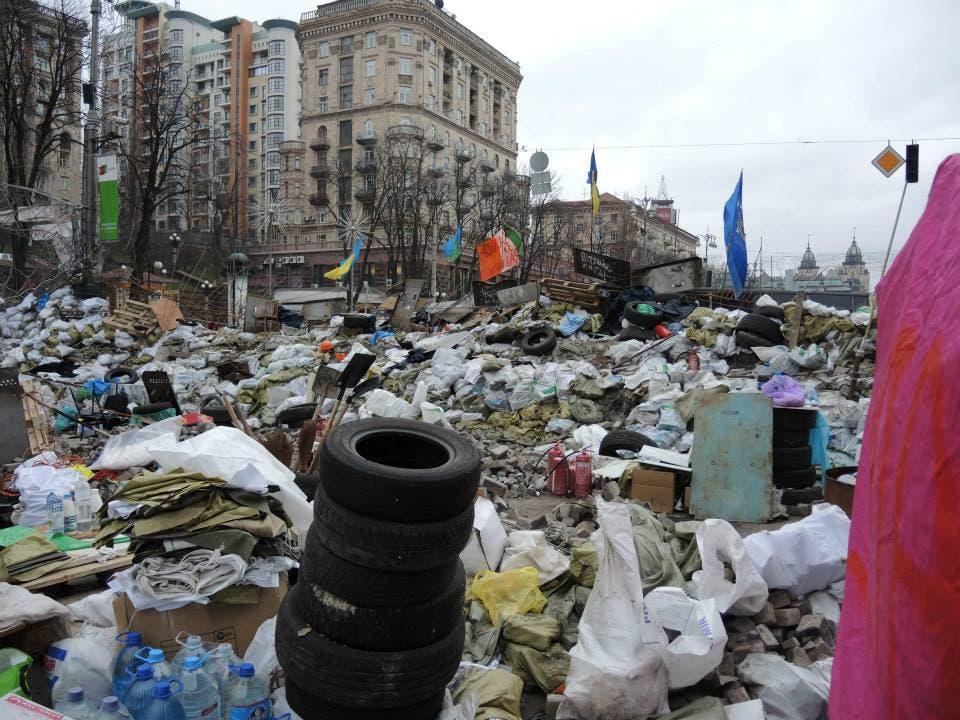 Strassen in Kiew sind ein einziges zugestelltes Chaos
