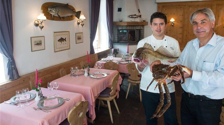 Restaurant Murtaröl, Plaun da lej, Maloja: Hier ist Fisch fast Pflicht