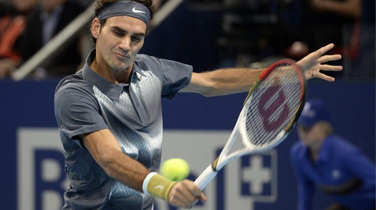 Roger Federer steht zum zehnten Mal im Final der Swiss Indoors