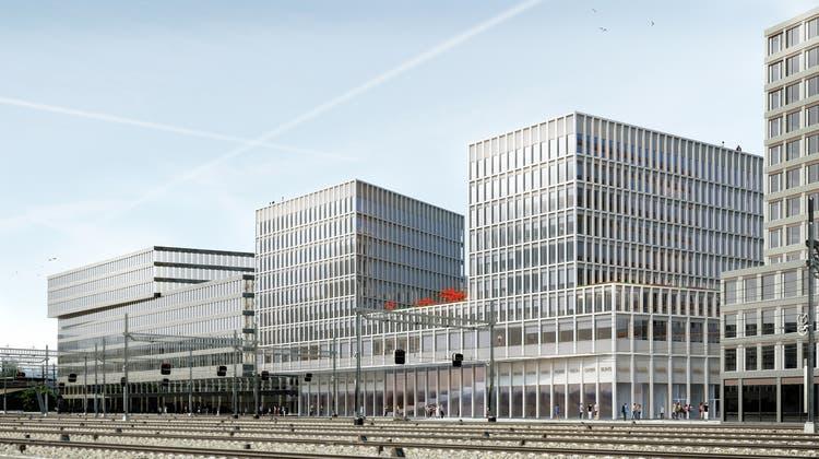 Vier Bahngleise weniger, dafür eine schicke Silhouette der Stadt an der Europaallee