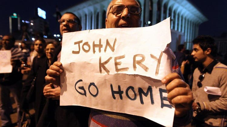 Krawalle bei Kerrys Ägyptenbesuch fordern Dutzende Verletzte
