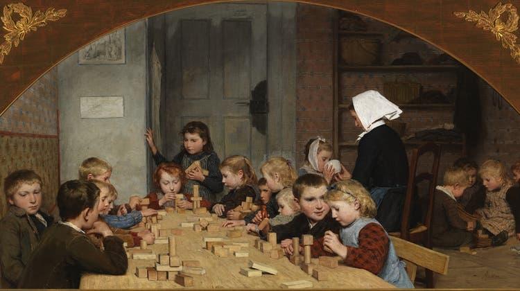 Mehr als herzig: Gedanken zu Albert Ankers Gemälde «Kinderkrippe».