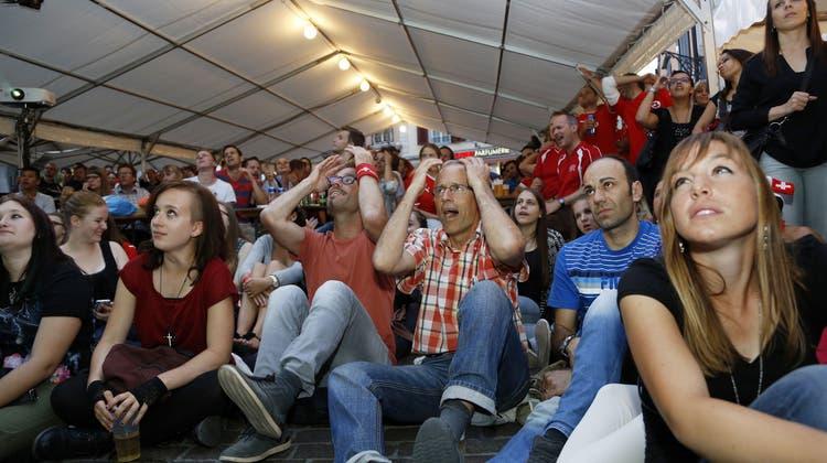 Public Viewing – keine Frage: An diesem Abend waren alle Schweizer