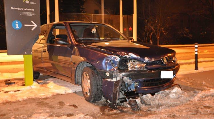 Betrunkener Autofahrer baut Unfall in Balsthal