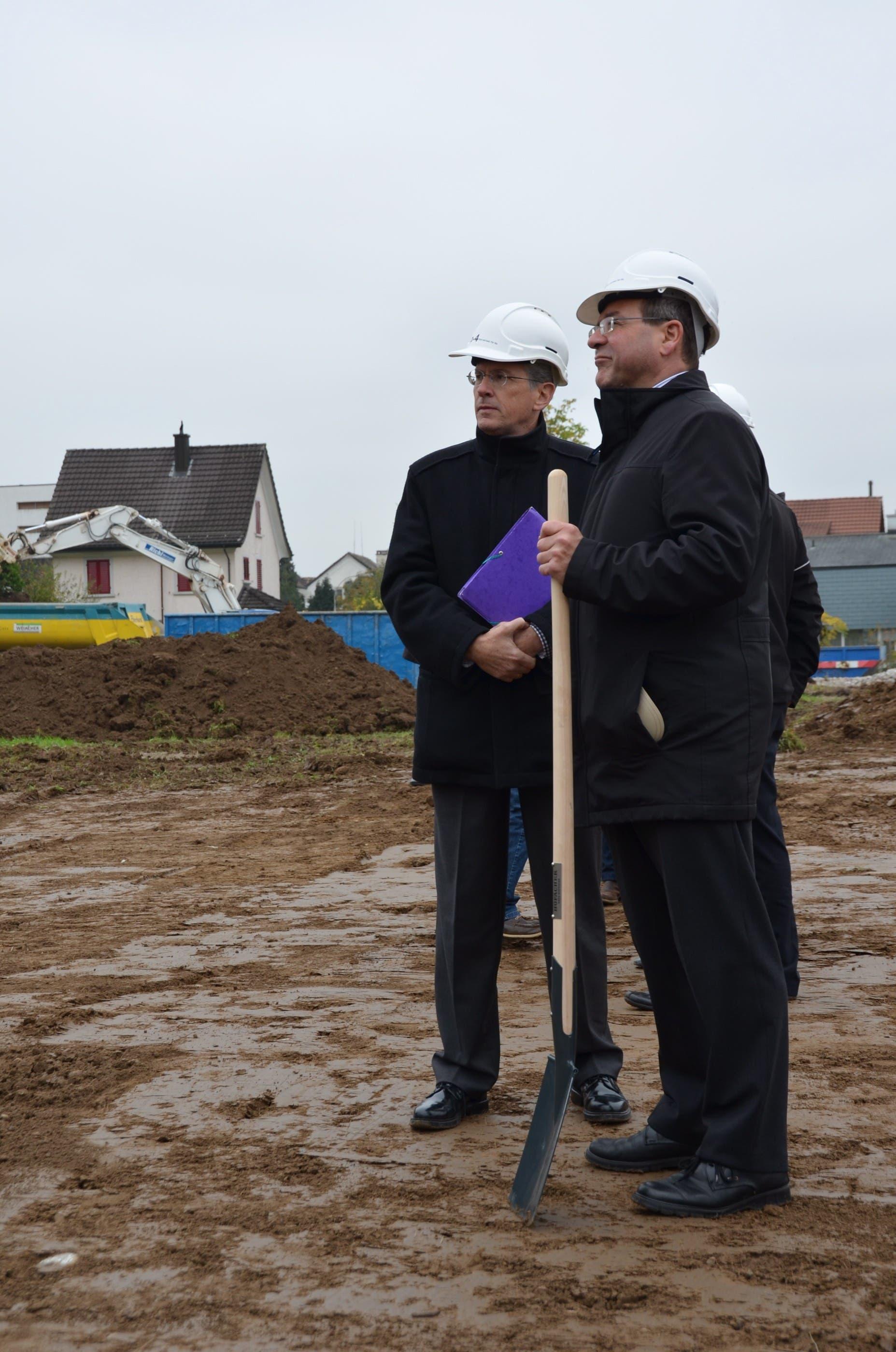 Die Bauarbeiten am Neubau Hofächer in Dietikon haben begonnen