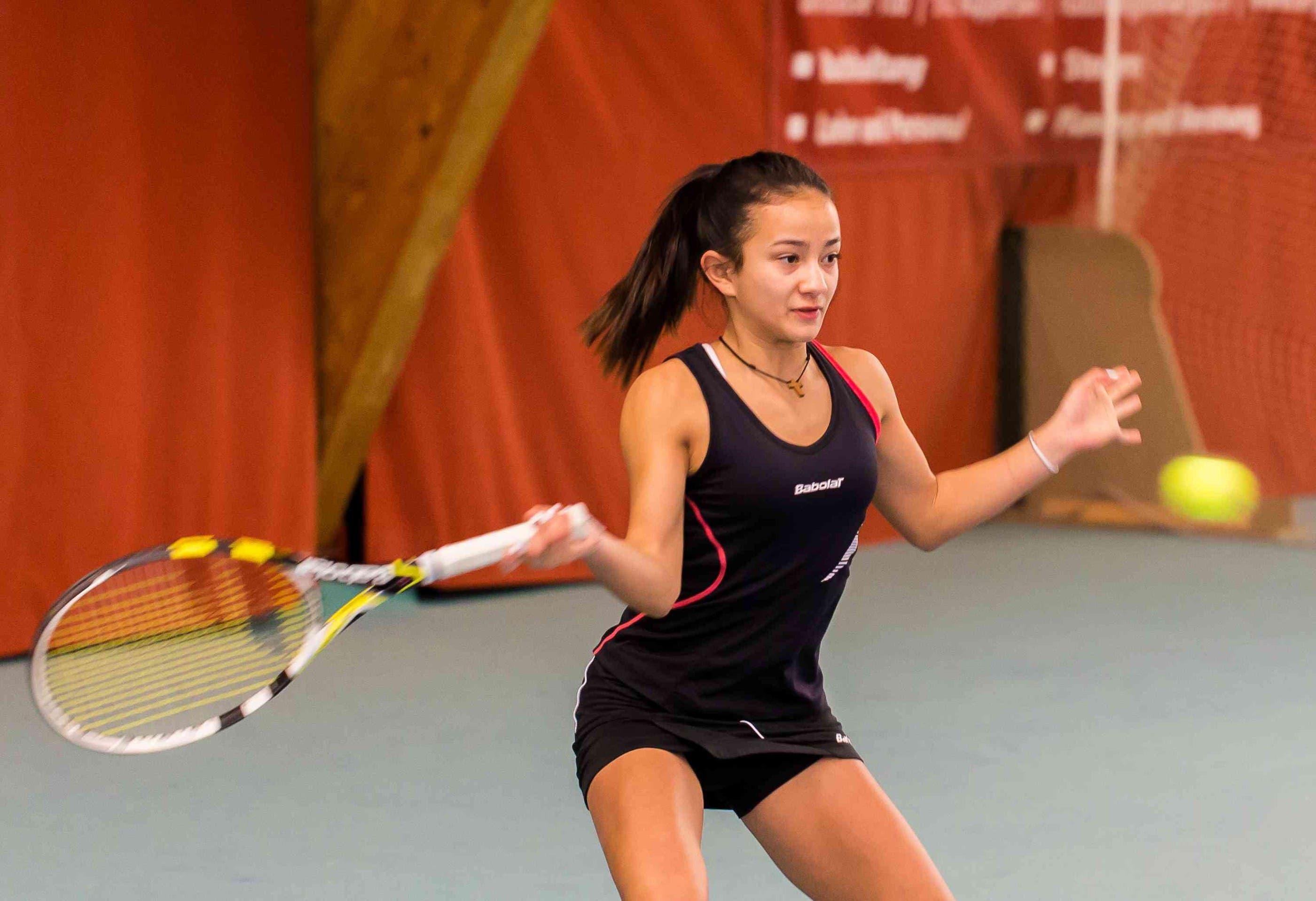 Die Kappeler Tennisspielerin Tamara Arnold im Final in Oberentfelden