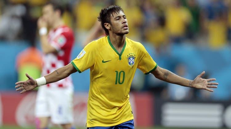 Doppeltorschütze Neymar: Brasilien schlägt im Eröffnungsspiel Kroatien 3:1
