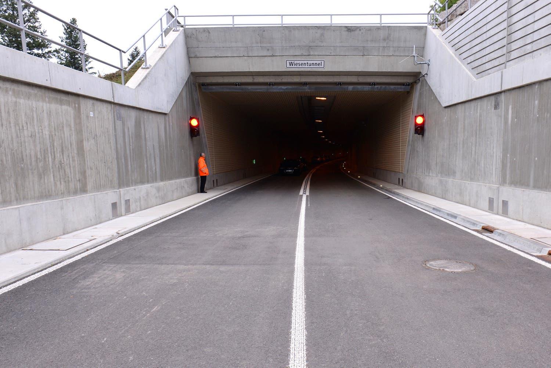 Der neue Tunnel der Zollfreistrasse.