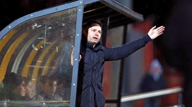 David Sesa beim FC Wohlen unmittelbar nach dem Spiel entlassen