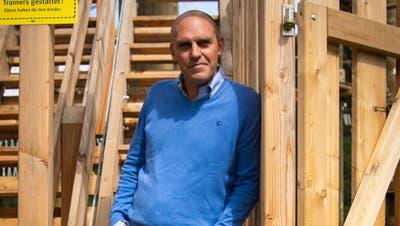 Der Kronberg ist für Felix Merz ein Kraftort: Hierher kommt er, um Ruhe und Erholung zu finden. Seit  1. September ist der Berg auch sein Arbeitsort. (Bild: Claudio Weder)
