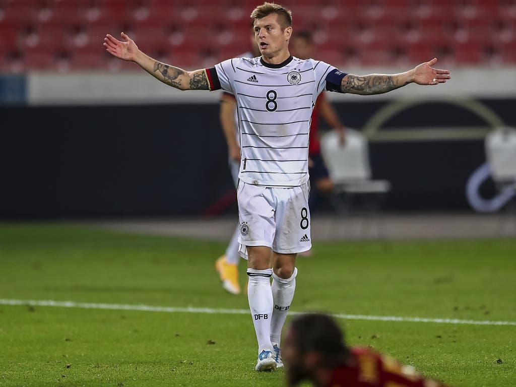 Toni Kroos' Ärger beim 1:1 der Deutschen gegen Spanien