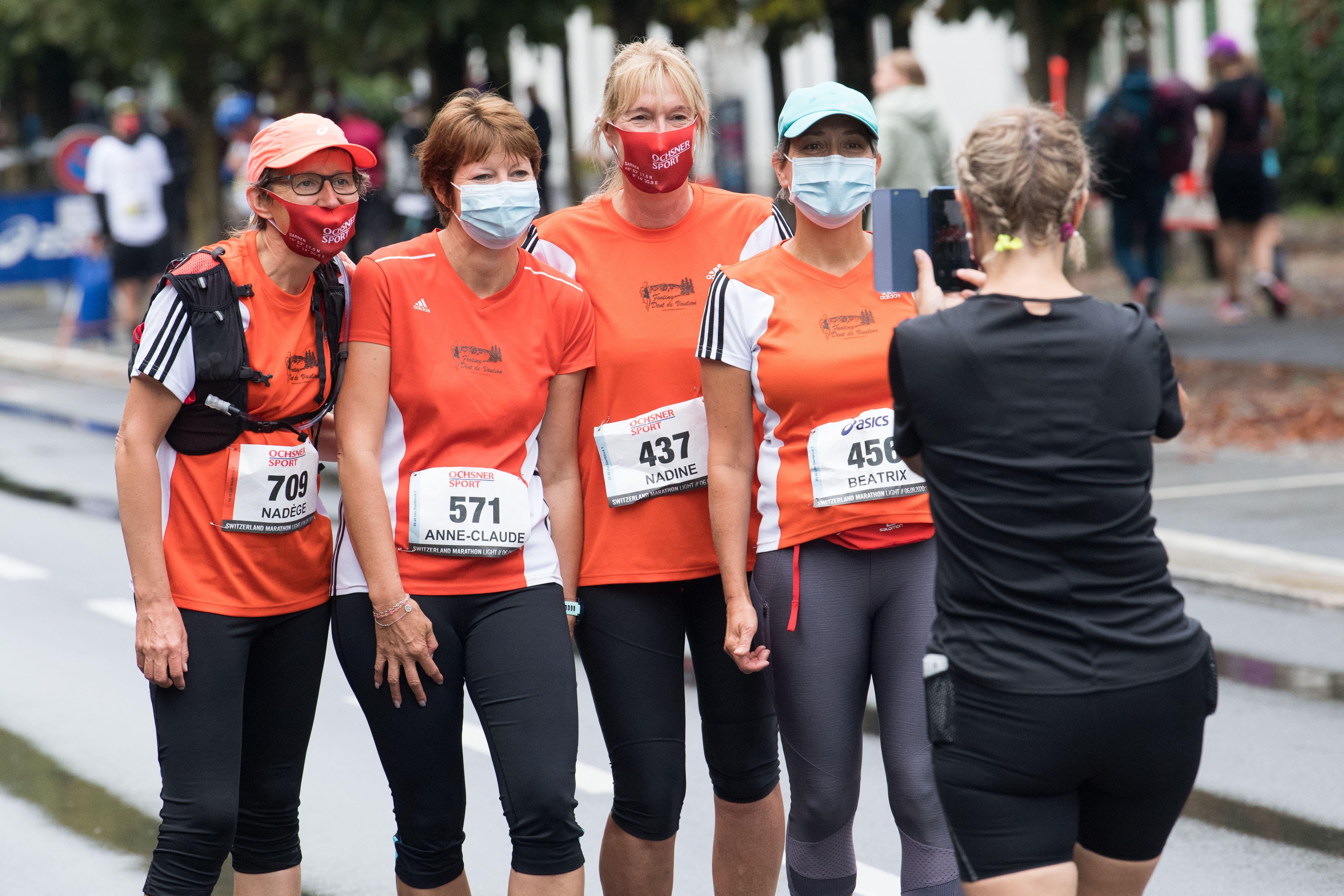 Das Erinnerungsfoto darf nicht fehlen: Nadège, Anne-Claude Baud (Croy), Nadine Perret (Agiez), Beatrix Monnier (Croy, von links).