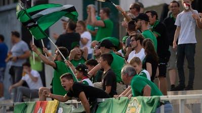 Zuschauer im Kleinfeld beim Spiel des SC Kriens gegen GC. (Bild: Dominik Wunderli (Kriens, 24. Juli 2020))