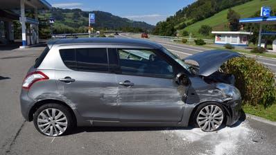 Das verunfallte Auto in Malters. (Bild: Luzerner Polizei (Malters, 5. September 2020))