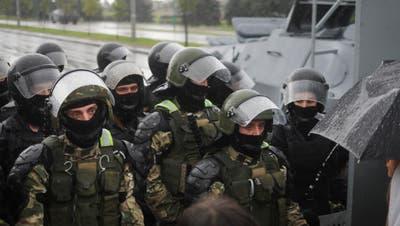 Hunderte Festnahmen bei Grossdemo in Belarus gegen Lukaschenko
